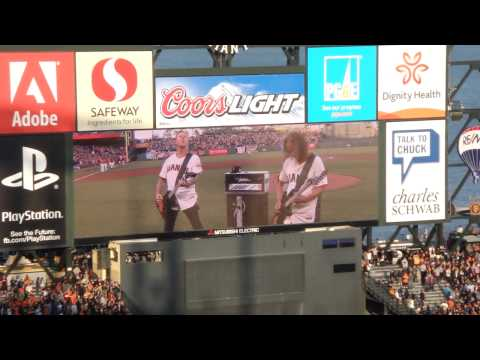 [HD] Metallica US National Anthem @ AT&T Park 2013