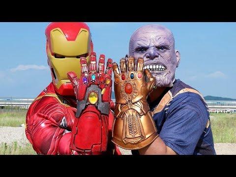 Endgame Iron Man Gauntlet VS Thanos Infinity Gauntlet