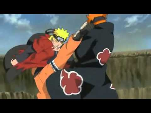Naruto Vs pain amv I am not afraid Eminem