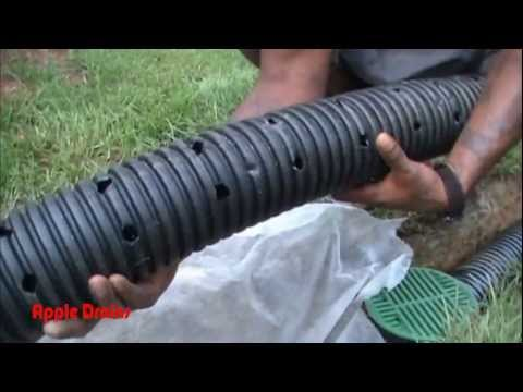 French Drain for Do It Yourself Project - by Apple Drains. Charlotte NC