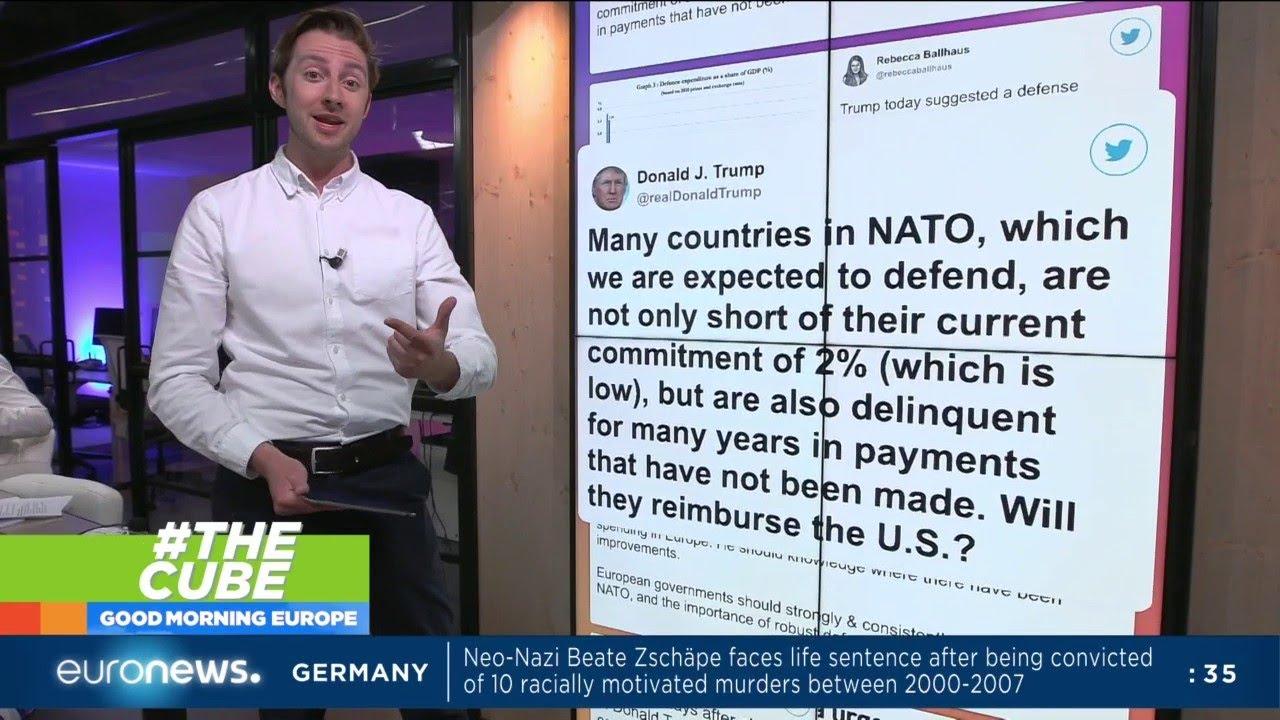 #TheCube   Are President Trump's NATO comments fair?
