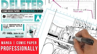 How To Use Manga Comic Book Paper Professionally