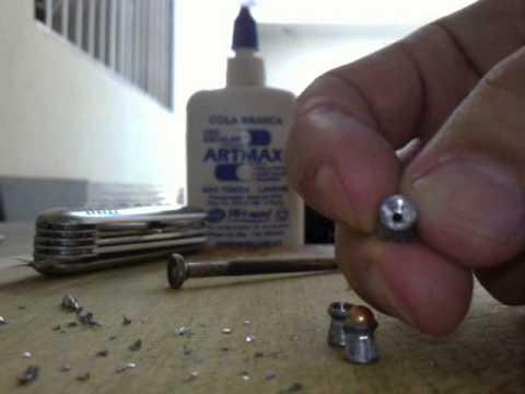 Modificação de chumbo para carabina de pressão