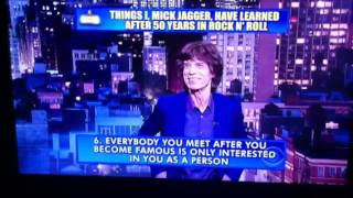 Dave Letterman Top 10 list W/Mick Jagger