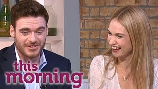 Cinderella Interview: Lily James And Richard Madden   This Morning