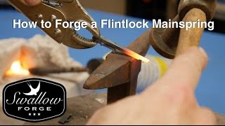 How to make a Flintlock Mainspring. Swallow Forge