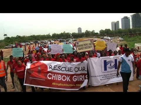 Protest in Abuja calls for return of Nigeria's missing girls