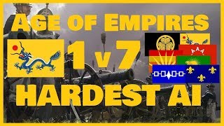 1v7 HARDEST AI (Expert) in Age of Empires