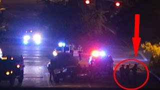 POLICE SHOOTOUT CAUGHT ON CAMERA!!