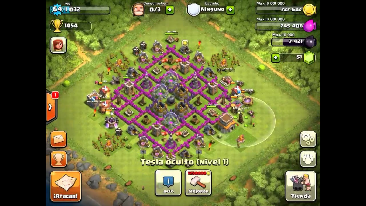 Clash of Clans Best Village 2013 Town Hall lv 8 - YouTube
