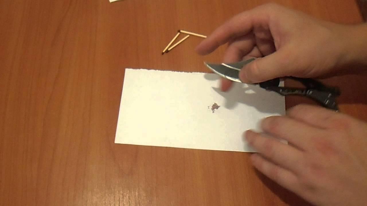 Как сделать спичку которая зажигается от всего