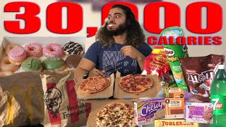 30,000 CALORIE CHALLENGE |  Punished | Epic Cheat Day