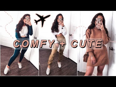 HOW TO LOOK CUTE WHILE BEING COMFY  AIRPORT OUTFITS