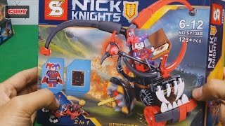 Bóc đồ chơi Lego Nexo Knights phần 1 - lắp ráp xe của chú hề Jestror - toy for kid