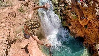 Cliff Jumping Havasupai - Insane Tricks in 4K!   DEVINSUPERTRAMP