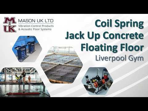 Concrete Floating Floor [Spring System]  | MASON UK LTD – Liverpool Gym (Free Weights Area)