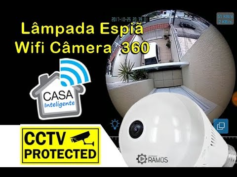 💥 Como instalar Lâmpada Câmera Espiã Wifi 360 💡 Controle do seu Celular 💡 Casa Inteligente IoT