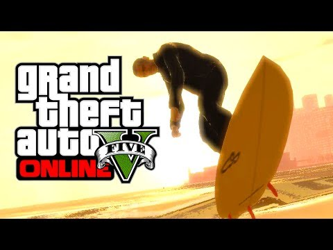 GTA 5 Online: HOW TO SURF! - GTA 5 Surfing Plane Wing Glitch (GTA 5 Glitches Gameplay)