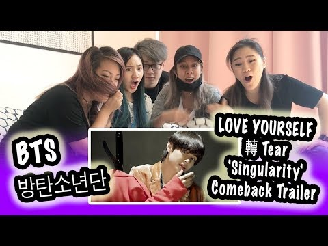 [KPOP REACTION] BTS 방탄소년단 --  LOVE YOURSELF 轉 TEAR 'SINGULARITY' COMEBACK TRAILER