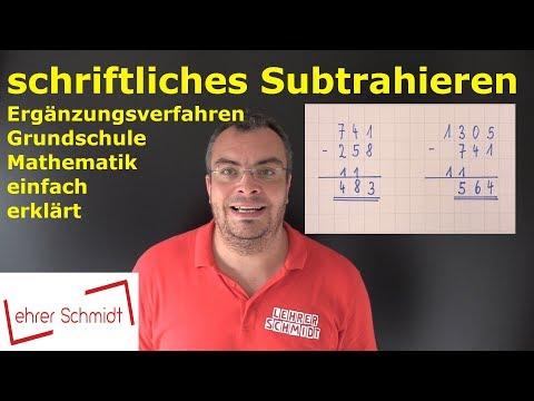 Download Minus - schriftliches Subtrahieren Ergänzungsverfahren   Grundschule - Mathematik einfach erklärt Mp4 baru