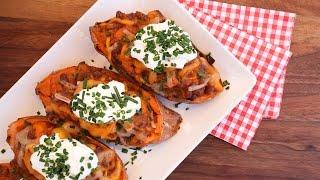 Smoky Stuffed Sweet Potato Recipe | Vegetarian BBQ