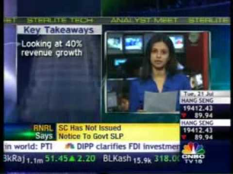 CNBC - Anil Agarwal - Sterlite Technologies - Q1 Results