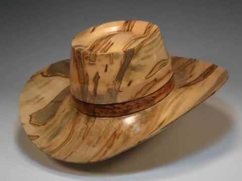 Woodturning - Woodturning Cowboy Hat process