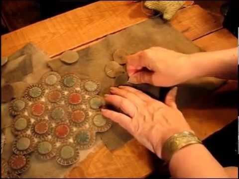 penny rug et sac petale