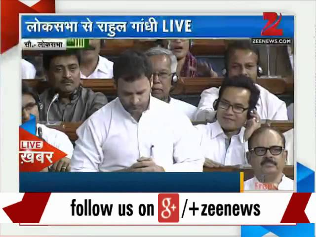 'Acche din' govt has failed this country, Rahul Gandhi says in Lok Sabha