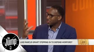 Tracy McGrady: None of JR Smith's teammates came to his defense vs. Marcus Smart | The Jump | ESPN