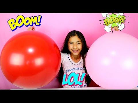 2 Giant Balloons Surprise Minions Kinder Eggs MLP Lalaloopsy Masha B2cutecupcakes