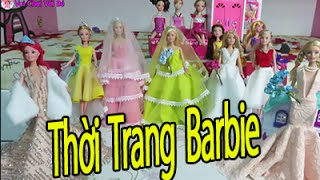 Sưu Tập Thời Trang do choi bup be barbie - funny kid toys with chi cau vong channel, vui choi voi be