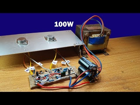 How to make 100W amplifier circuit using two transistors 2N3055 thumbnail