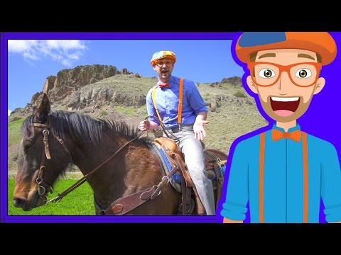 A Day On The Ranch for Kids | Blippi Axe Family | Videos for Children
