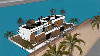 SIMS 5 LUXURY FLOATING VILLA DESIGN ON WATER BUILDING A HOME UPGRADES FREEPLAY Yacht getaway retreat