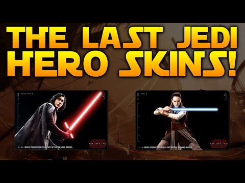 FIRST LOOK - KYLO REN & REY LAST JEDI SKINS - Star Wars Battlefront 2