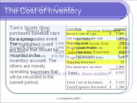 Accounting Lecture 07 Part I - Merchandising and Inventory Purchases