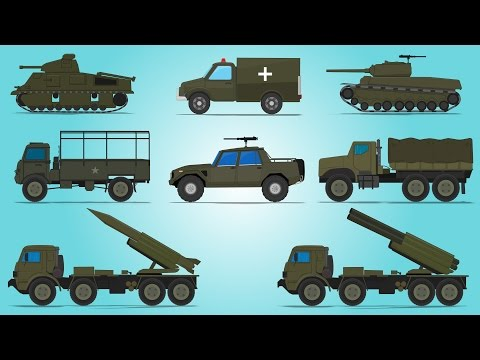 Army Vehicles | Street Vehicles | Cars For Kids