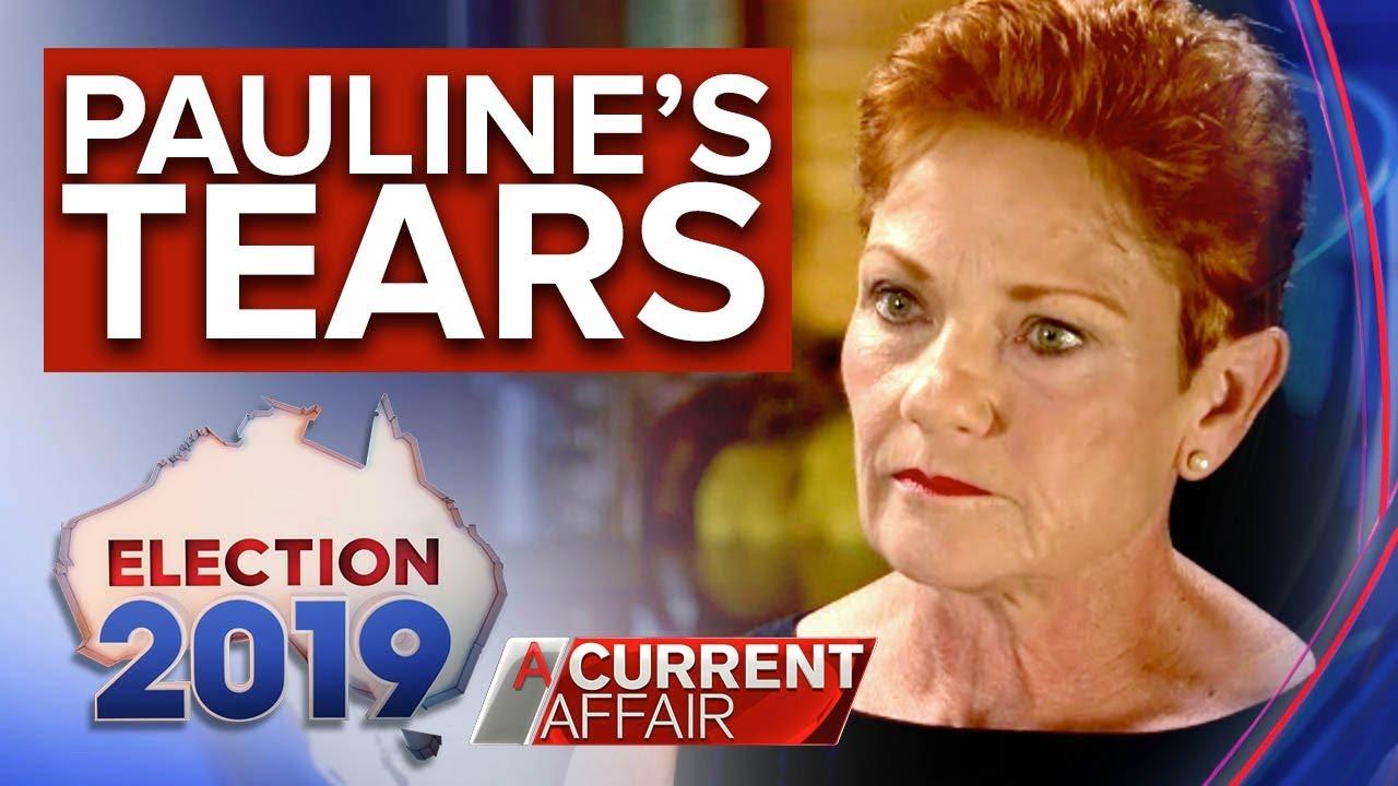 Pauline Hanson's tears – Tracy Grimshaw EXCLUSIVE | Nine News Australia