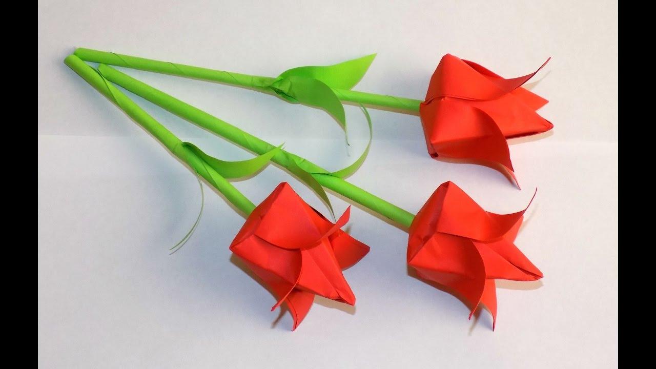 Видео как из бумаги сделать цветы с белой бумаги своими руками 2