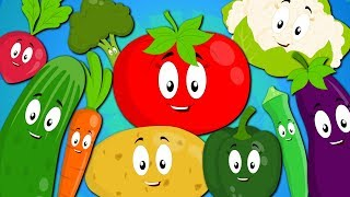 Ten little Vegetables Jumping On The Bed | Vegetables Song | Nursery Rhymes | Baby Songs