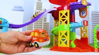 VTech Spinning Spiral Tower Playset - Go Go Smart Wheels Toy Learning Video for Kids