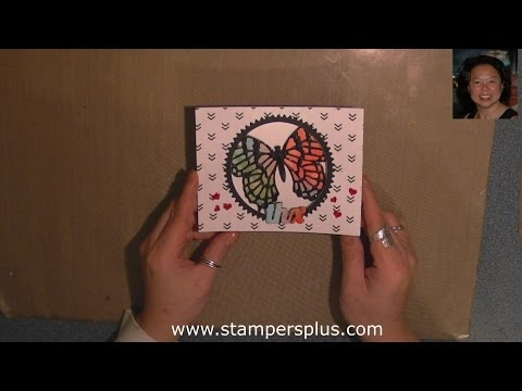 Butterfly Thinlits Die - Watercolor Stained Glass THX