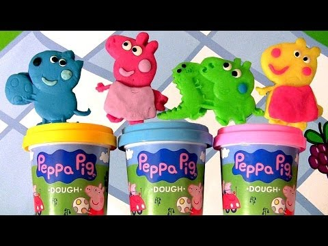 Peppa Pig Picnic Play Dough Activity Case Using Playdoh Mummy Pig 😊 Daddy Pig Disneycollector video