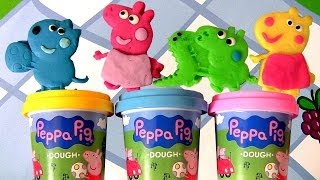 Peppa Pig Picnic Dough Activity Playset Case Using PlayDoh Mummy Pig 😊 Daddy Pig by Disneycollector