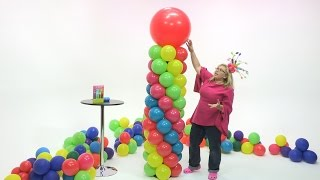 Fiesta Balloon Column (5 Color Spiral) - DIY Tutorial