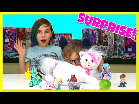 Funny Kitty Surprise Parody Opening - Frozen, My Little Pony, Tokidoki And More Lol video