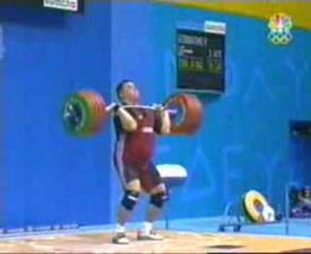 Athens 2004 clean and jerk Olympic Weight Lifting Compition Image 1