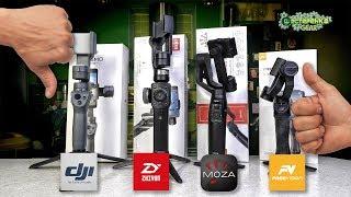 Сравнение стабилизаторов Moza Mini Mi vs  Zhiyun Smooth 4 vs Freevision Vilta M vs DJI Osmo Mobile 2