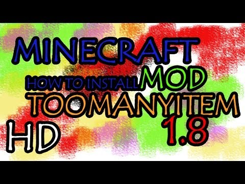 Minecraft[1.8] วิธีการลง Mod เบื้องต้น [Toomanyitem]